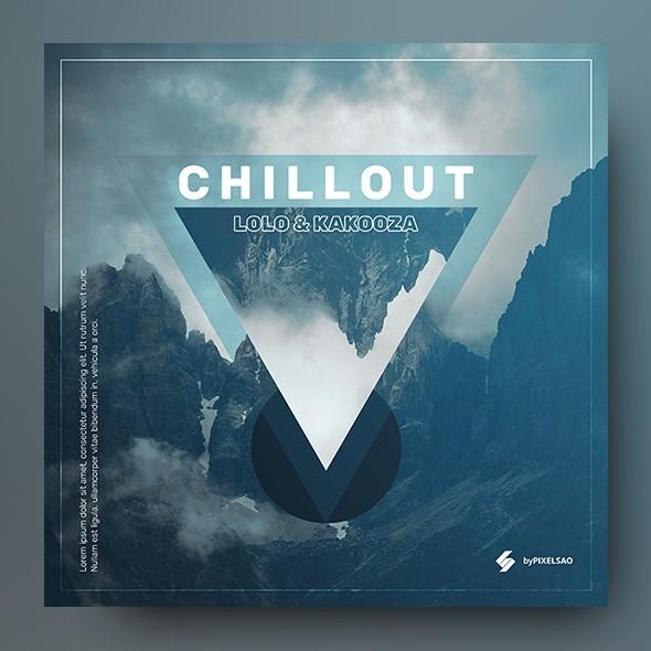 Chillout Music Album Cover Artwork Template