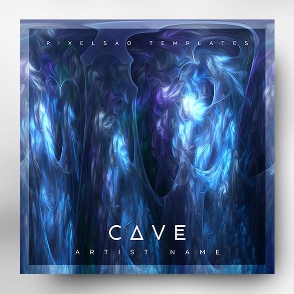 Cave – Music Album Cover Art PSD Template