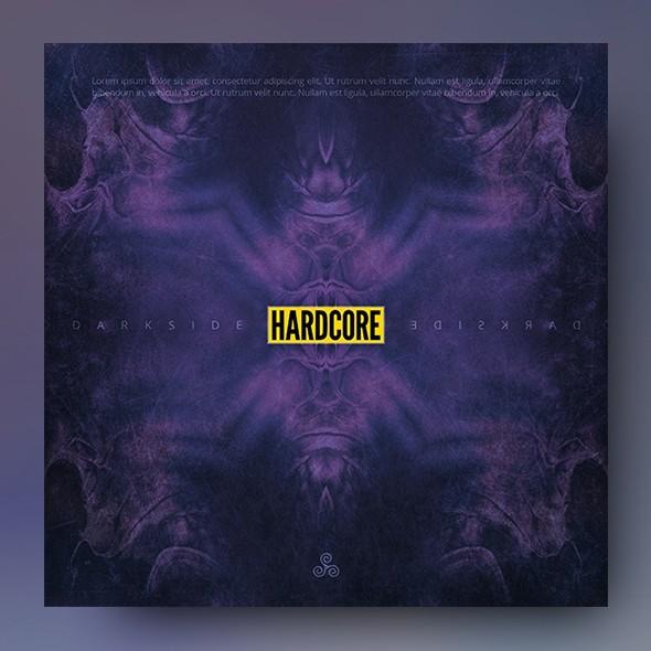 Darkside Hardcore – Music Album Cover Artwork Template