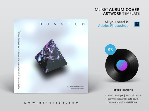 Quantum - Minimal Album Cover Artwork Template