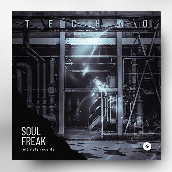 Techno – Music Album Cover Artwork Template