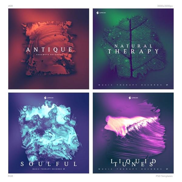 Music Album Cover Artwork Templates 09