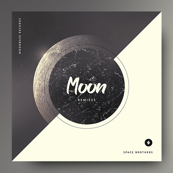 Moon Remixes – Electronic Music Album Cover Template