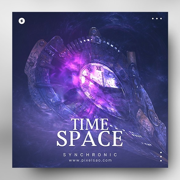 Time Space – Music Album Cover Art Template