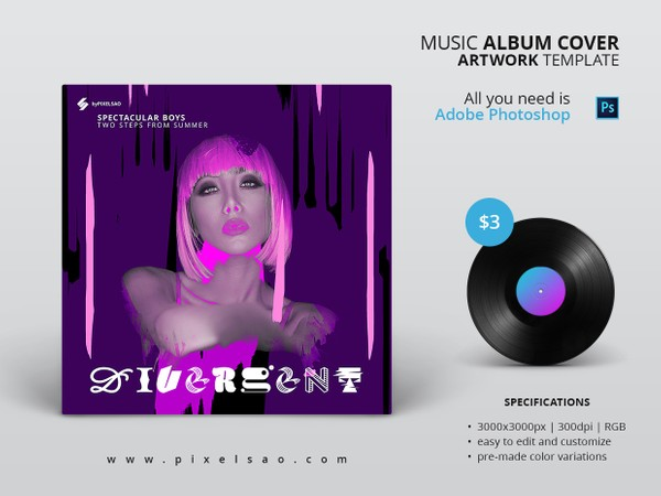 Divergent - Music Album Cover Artwork Template