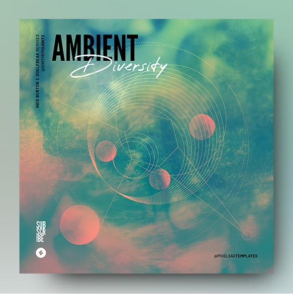 Ambient Diversity – Music Album Cover Artwork Template
