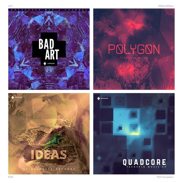 Music Album Cover Artwork Templates Pack 12