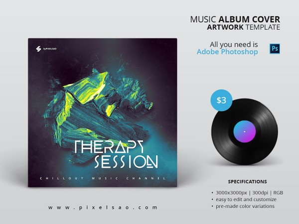 Therapy Session -  Album Cover Artwork Template