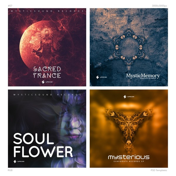 Music Album Cover Artwork Templates 07