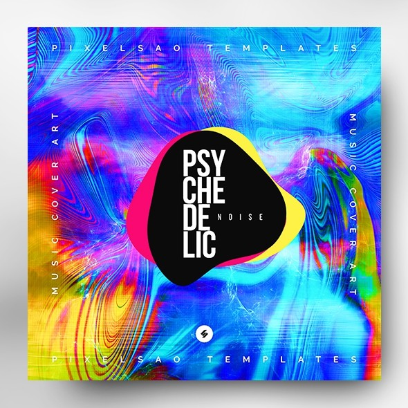 Psychedelic Noise – Music Album Cover Artwork Template