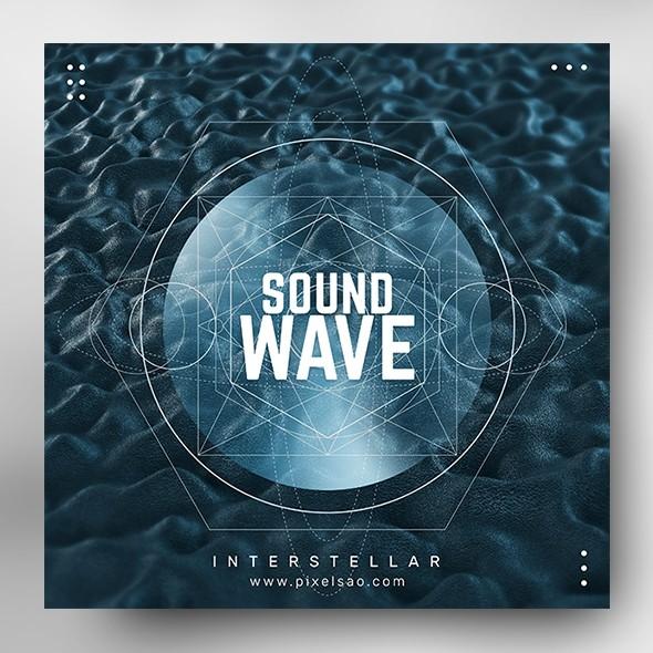 Sound Wave vol.1 – Music Album Cover Psd Template