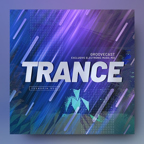 Trance – Electronic Music Album Cover Template