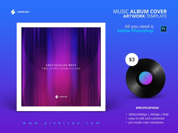 Music Album Cover Artwork Template - Spectacular