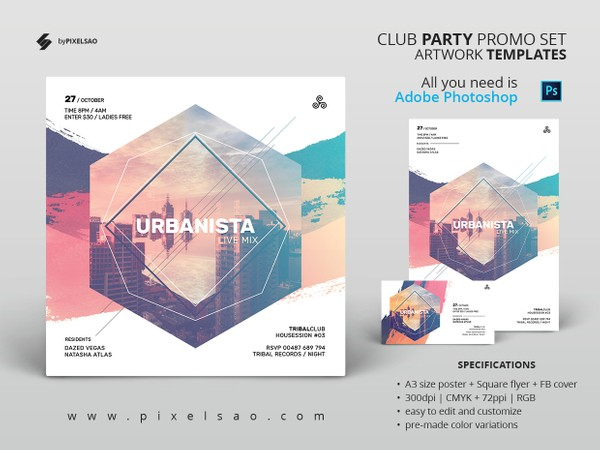 Urban Sound Party Flyer / Poster Template