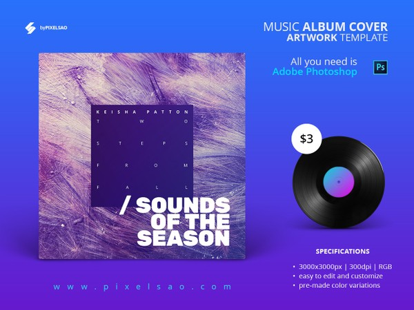 Music Album Cover Artwork Template - Sounds Of Season