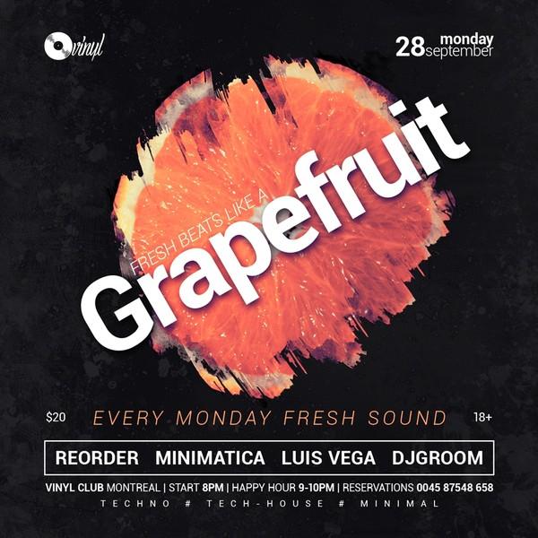 Grapefruit - Progressive Party Flyer / Poster Template