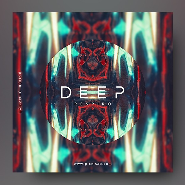 Deep – Abstract Album Cover Artwork Template