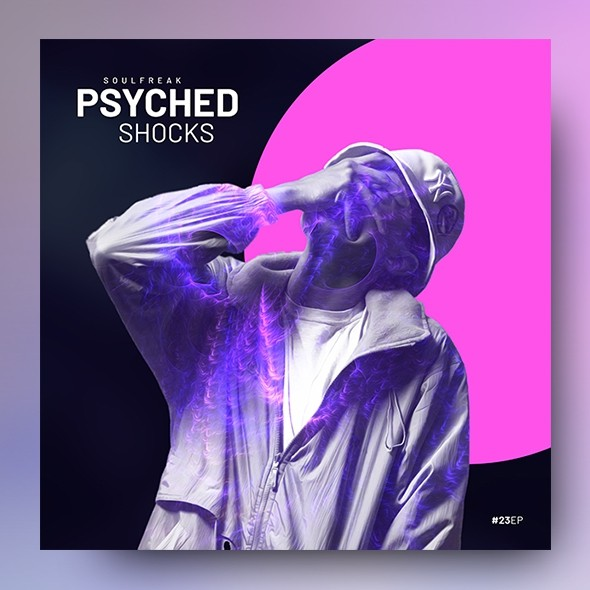 Psyched – Music Album Cover Artwork Template
