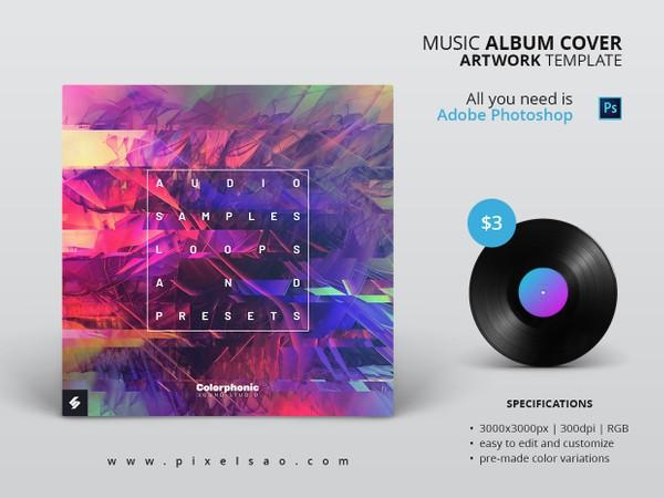 Colorphonic - Music Album Cover Artwork Template