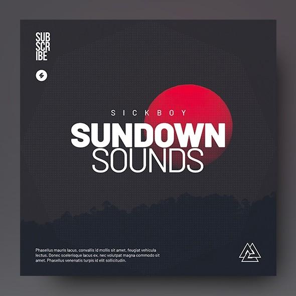 Sundown Sounds - Music Album Cover Artwork Template