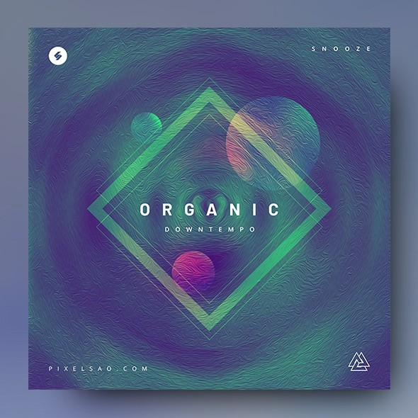 Organic Downtempo – Music Album Cover Template