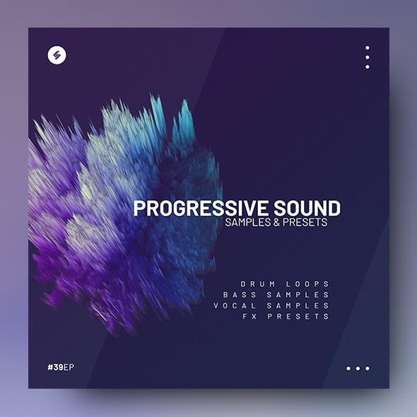 Progressive Sounds – Music Album Cover PSD Template