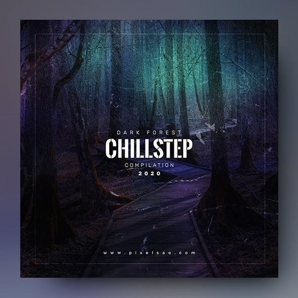 Dark Forest – Chillstep Album Cover Artwork Template