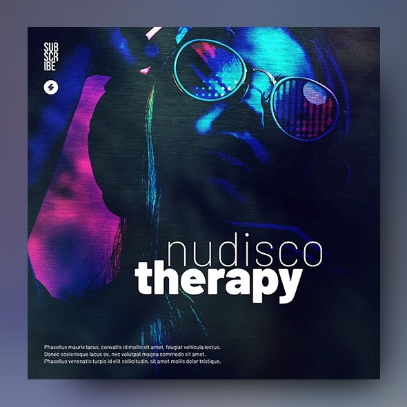 Nudisco Therapy - Music Album Cover Template
