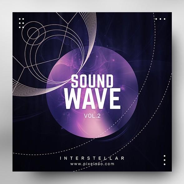 Sound Wave vol.2 – Music Album Cover Psd Template