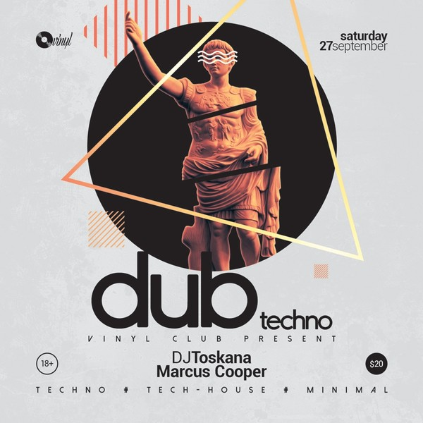 Dub Techno - Minimal Party Flyer / Poster Template