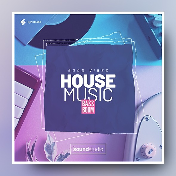 Good House Music – Music Album Cover Template