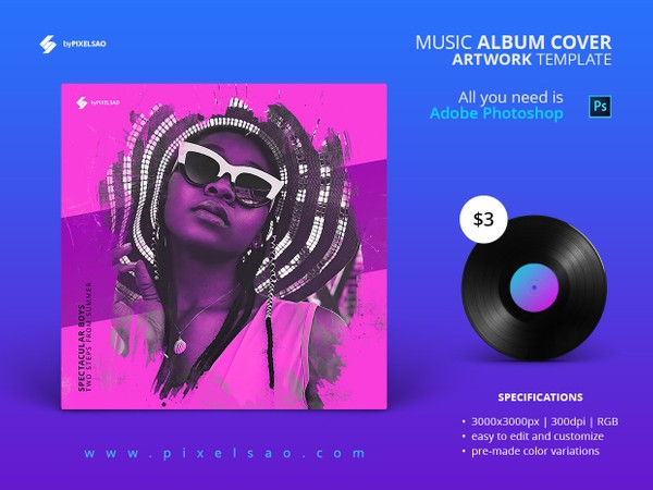 Soulful House - Music Album Cover Artwork Template