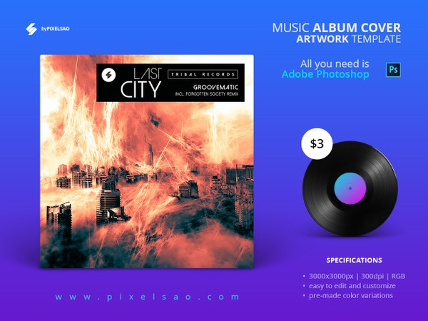 Last City - Music Album Cover Artwork Template