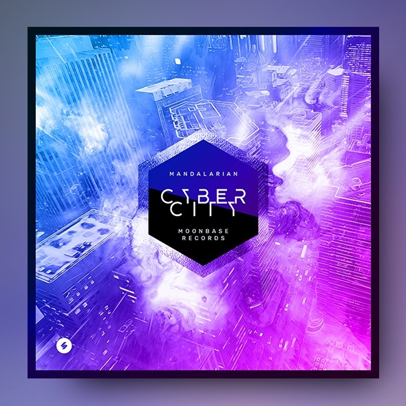 Cyber City – Electronic Music Album Cover Template