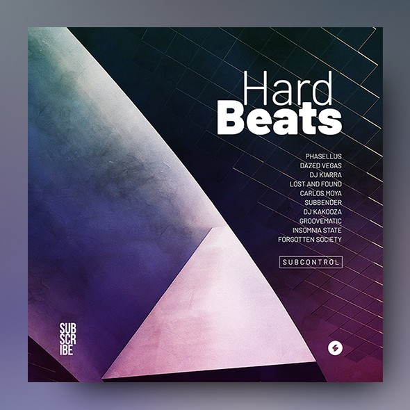 Hard Beats - Electronic Music Album Cover Template