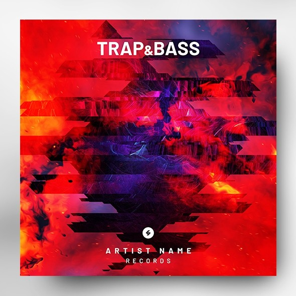 Trap and Bass – Music Album Cover Art Template