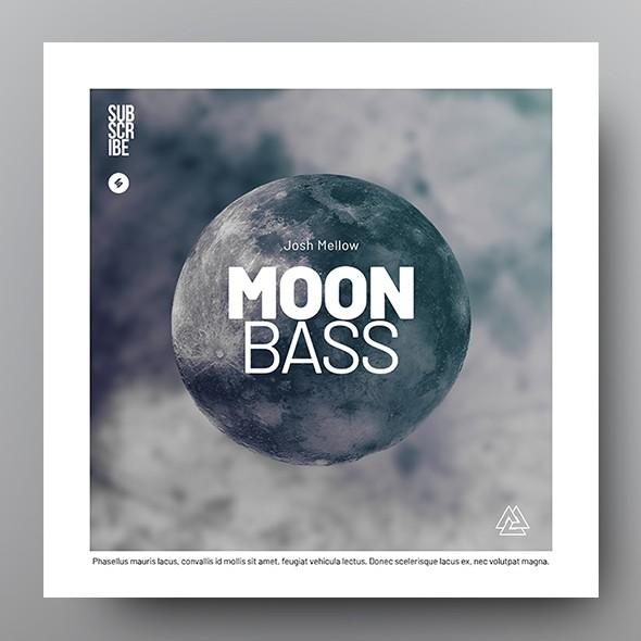 Moon Bass - Music Album Cover Artwork Template