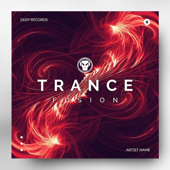 Trance Fusion – Music Album Cover Artwork Template