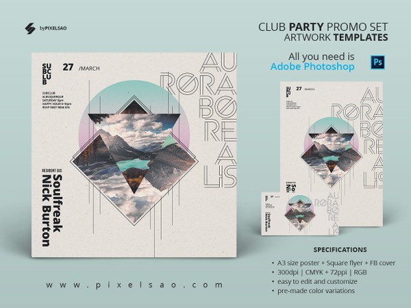 Aurora Borealis - Creative Event Poster Template