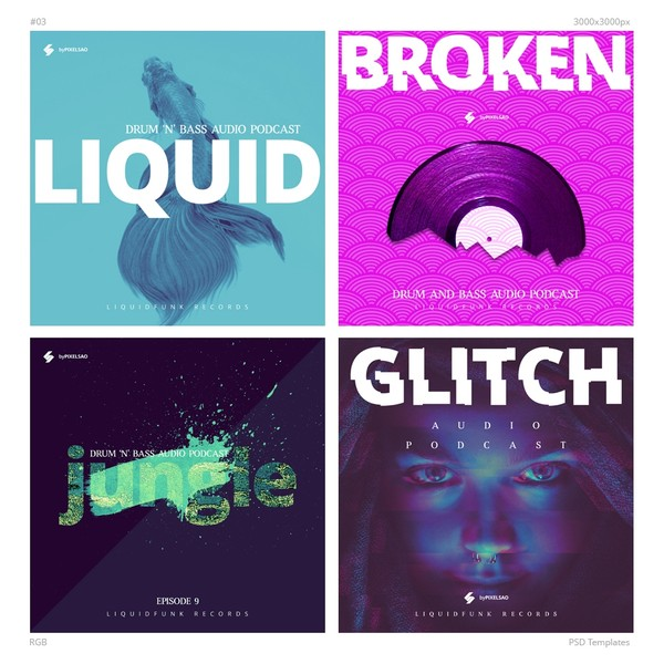 Music Album Cover Artwork Templates 03