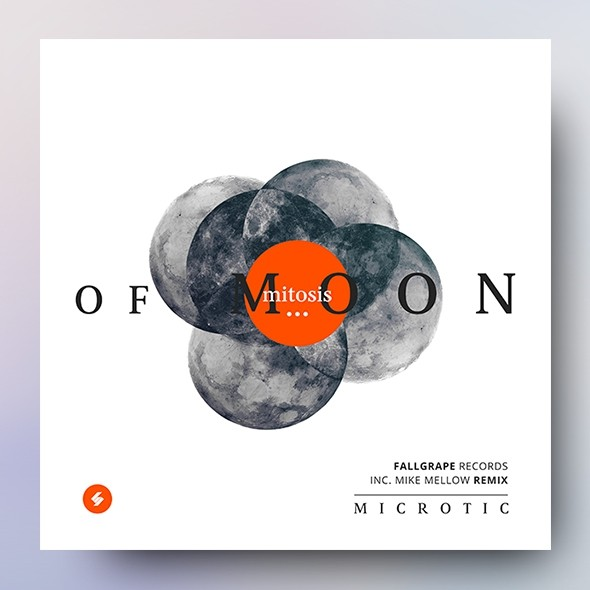 Mitosis Of Moon - Minimal Album Cover Artwork Template