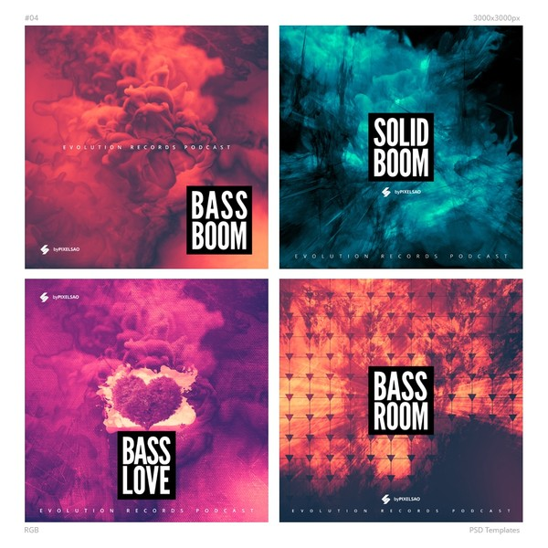 Music Album Cover Artwork Templates 04