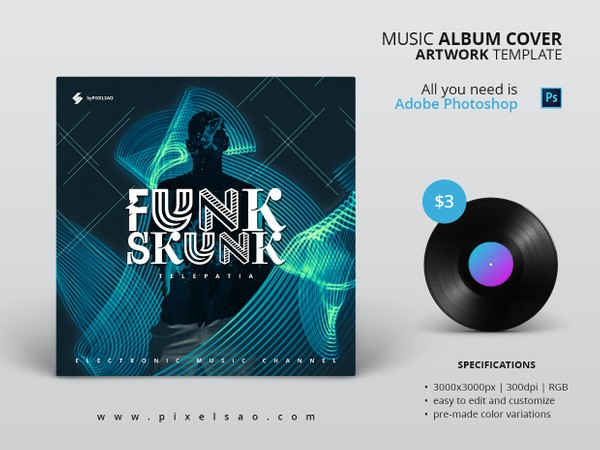 Funk Skunk - Music Album Cover Artwork Template