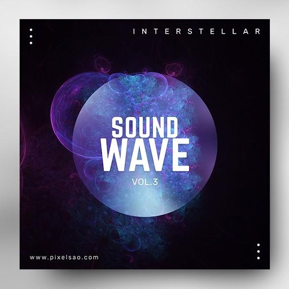 Sound Wave vol.3– Music Album Cover Psd Template