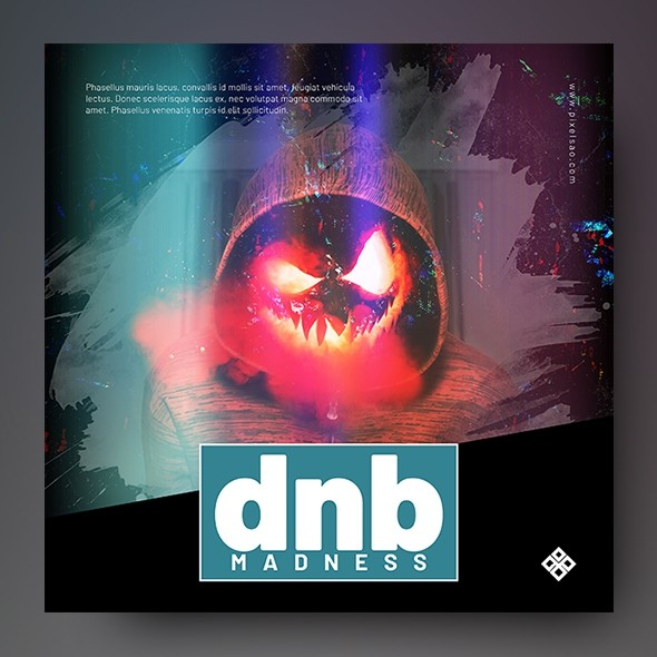DnB Madness – Music Album Cover Template