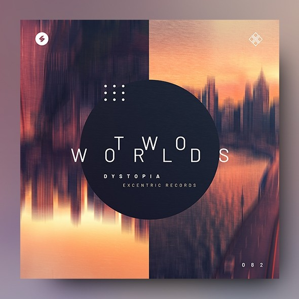 Two Worlds – Music Album Cover Template
