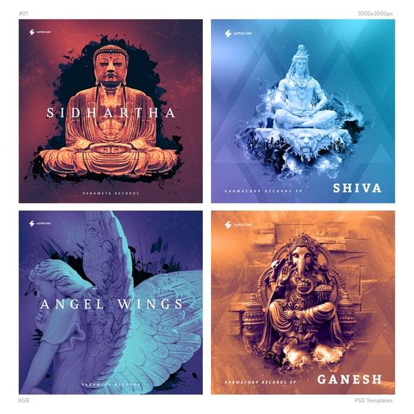 Music Album Cover Artwork Templates 01