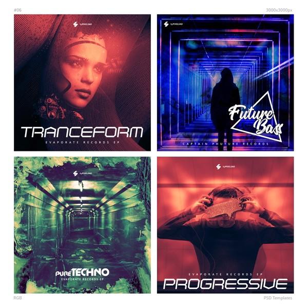 Music Album Cover Artwork Templates 06