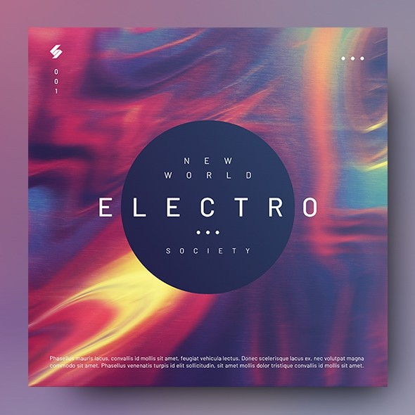 Electro 001 – Music Album Cover Artwork Template