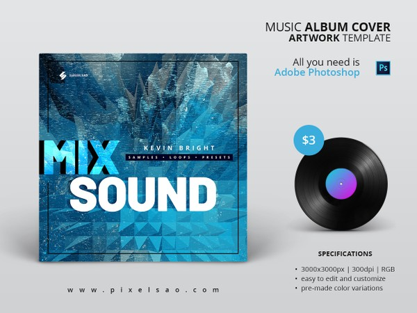 Mix Sound - Album Cover Artwork Template